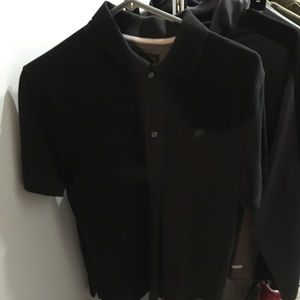 Men's M banana republic black polo shirt